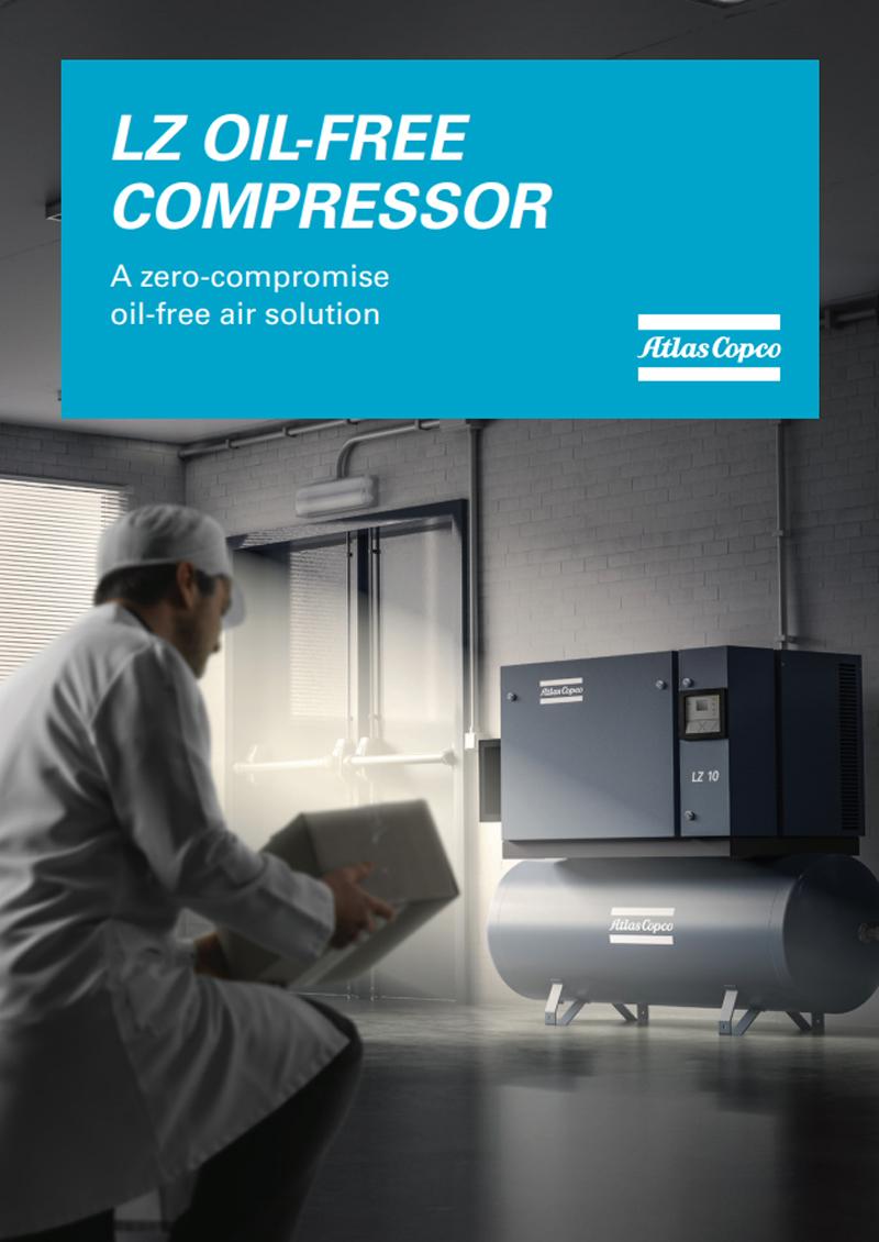 Atlas Copco LZ oil free piston air compressor