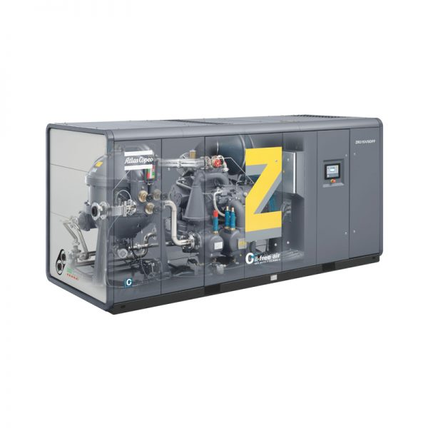 Atlas Copco Rotary screw and rotary tooth oil-free air compressors ZR & ZT (VSD)