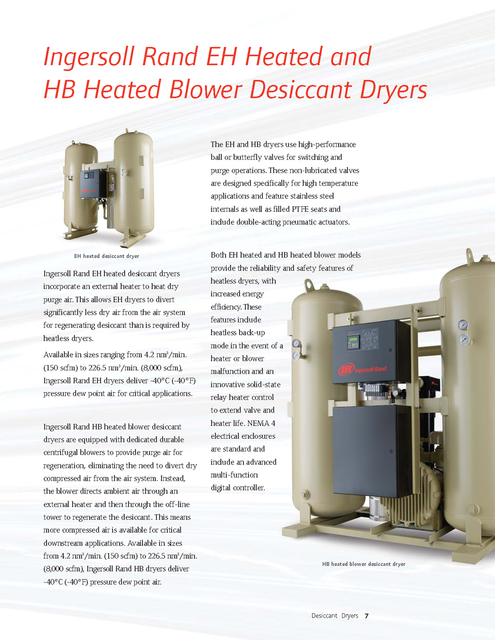 Ingersoll Rand Desiccant Ary Dryers