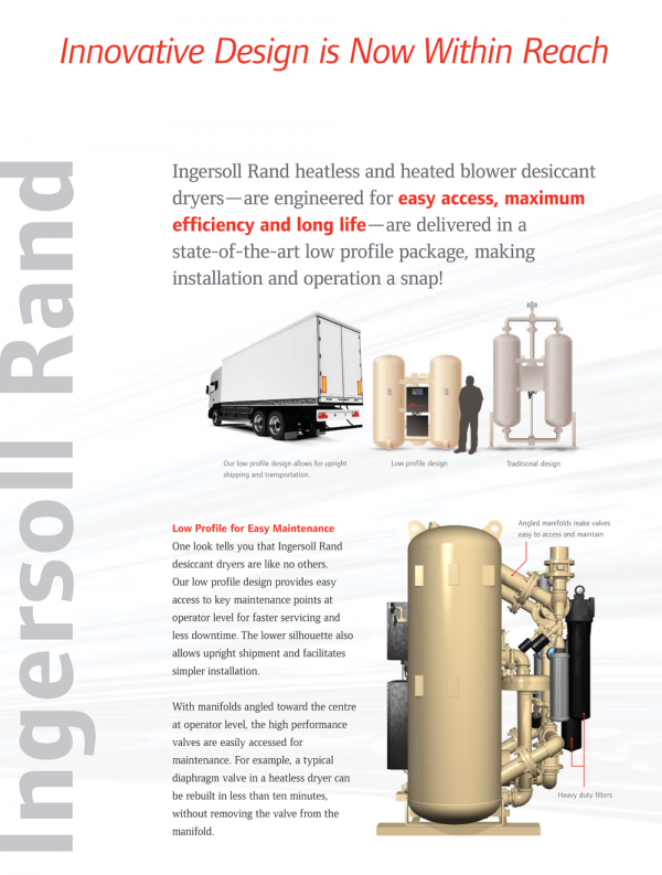 Ingersoll Rand Heated Blower Desiccant Dryers