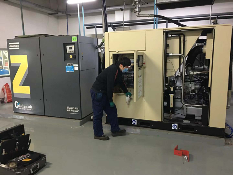 Project of Ingersoll Rand Screw Air Compressor
